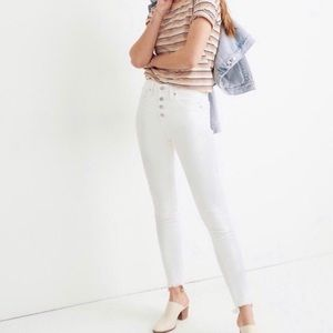 "NEW Madewell 10"" High Rise Skinny Jeans"